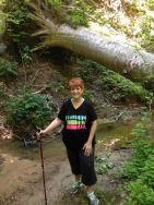 Deb on trail again